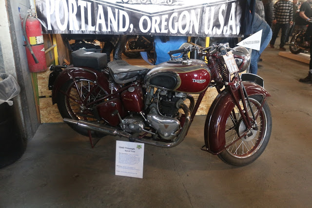 custom triumph bober motorcycle at the one moto show number 9