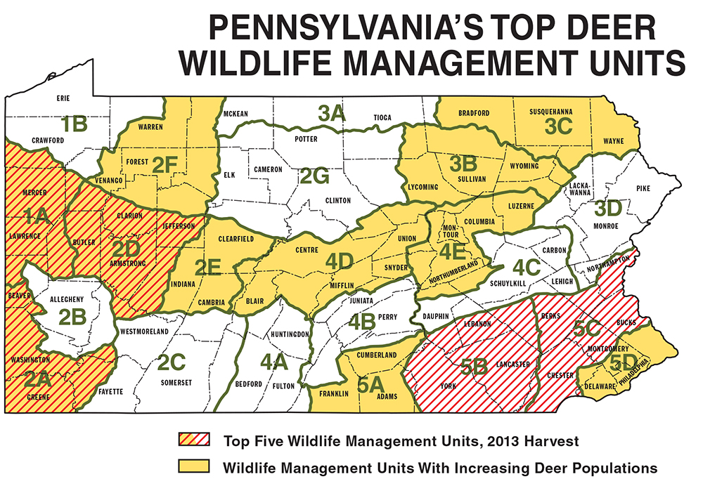 Full O Bull Gazette Follow The Map To Whitetails On Pa Gamelands