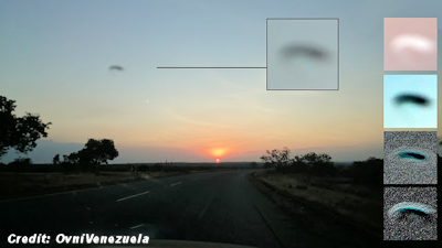 Concaved UFO Photographed in Bolivar, Venezuela 2-20-16
