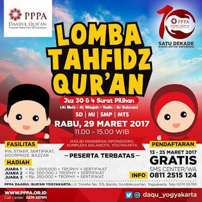 Lomba Tahfidz PPPA Yogyakarta