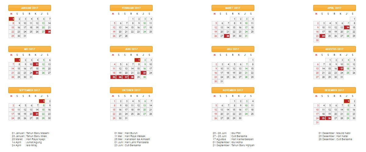 ... nasional 2017, kalender jawa tahun 2017, maupun kalender hijriah tahun