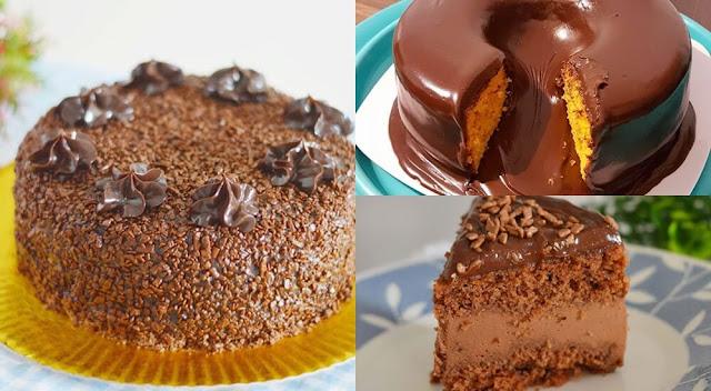 bolo com chocolate