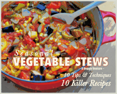 Seasonal Vegetable Stews ♥ AVeggieVenture.com, 10 killer recipes plus 10 tips & techniques to create your own killer vegetable stew.