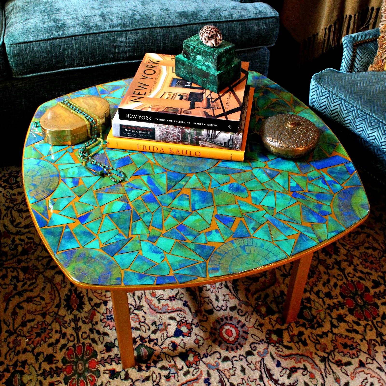 Fresh  Cardboard Mosaic Table