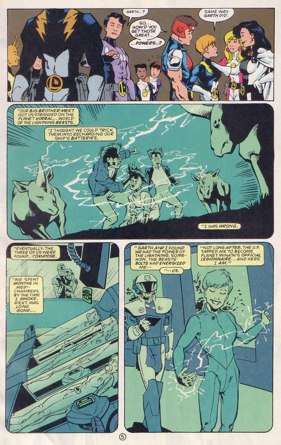 Legion of Super-Heroes (1989) 64 Page 5