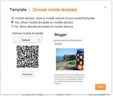mengaktifkan template mobile