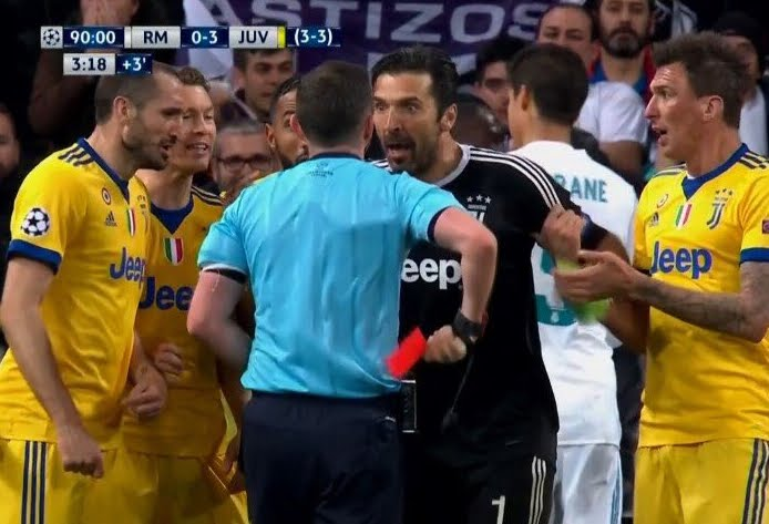 Real Madrid-Juventus, Buffon furibondo: