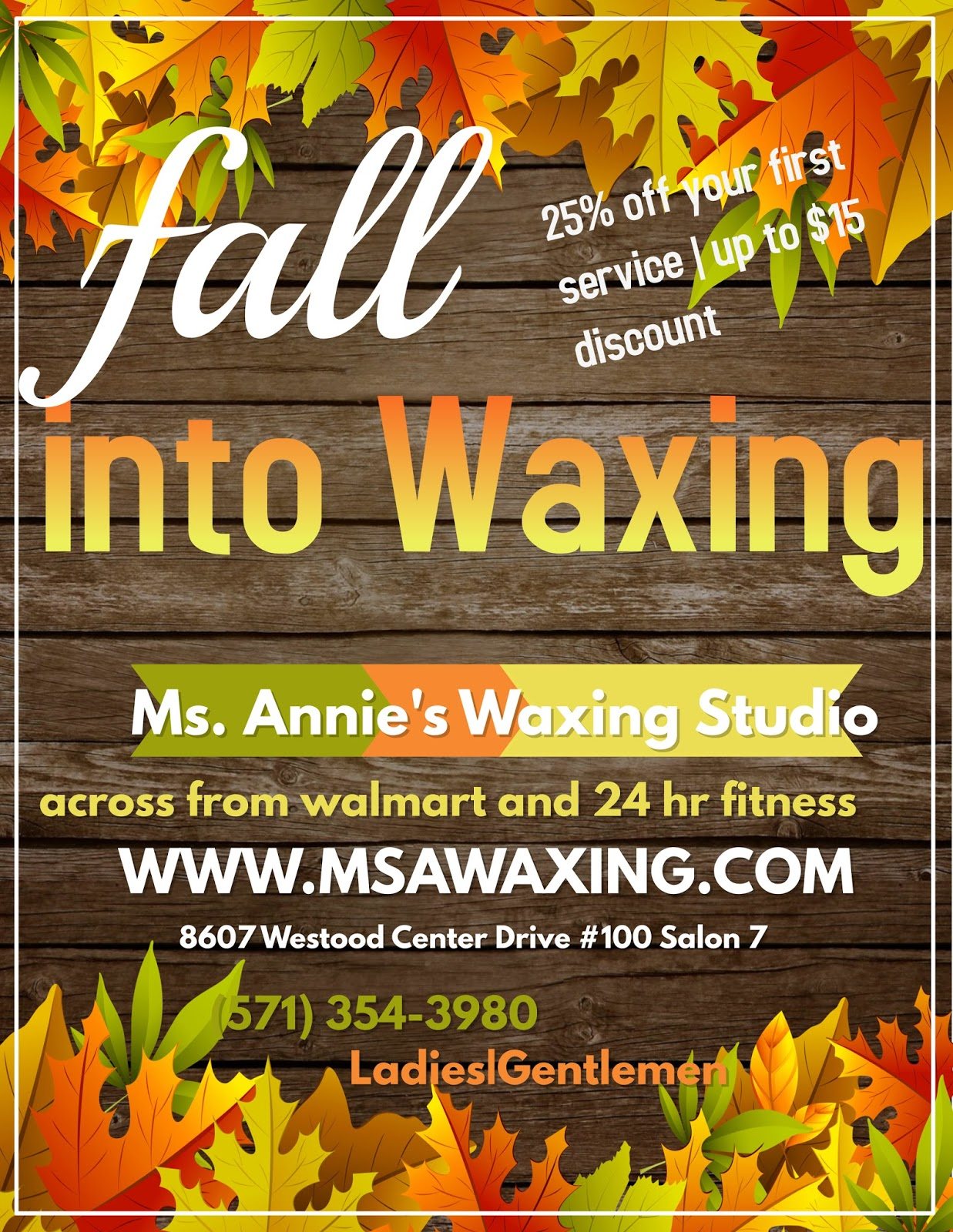 The virginia bloggers club dc md va event promotions ms annies waxing studio in tysons corner vtopaller Images