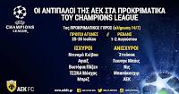 Οι πιθανοί αντίπαλοι της ΑΕΚ στα προκριματικά του Champions League