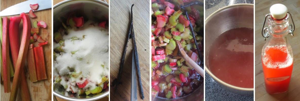 Zubereitung Rhabarber-Vanille-Sirup