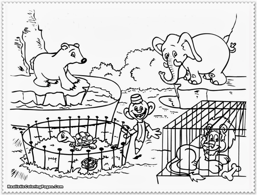 Zoo Coloring Pages For Preschoolers Coloring Pages