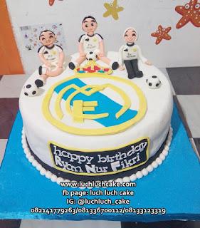 Kue Tart Real Madrid Fondant Untuk Suami
