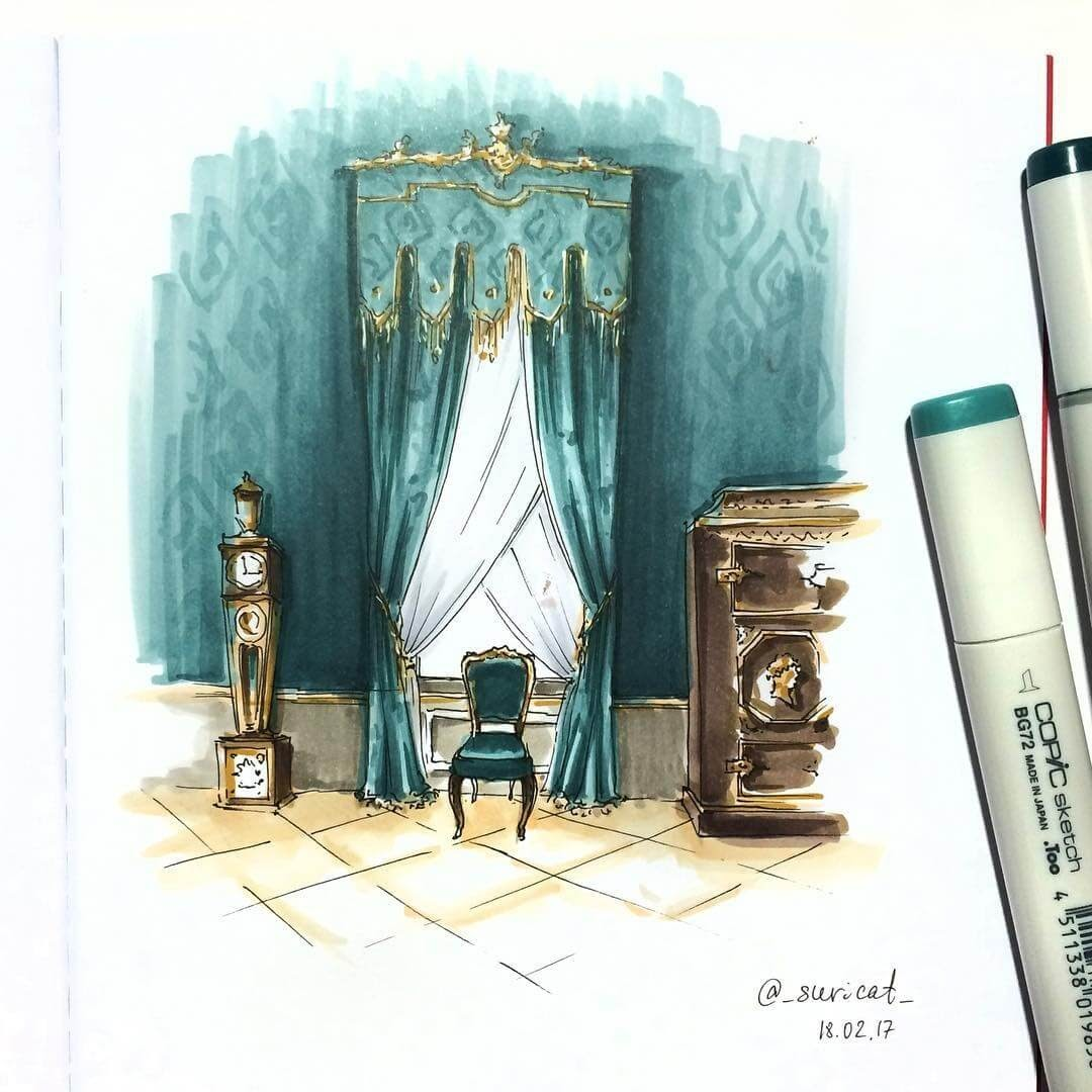 02-A-Step-Back-in-Time-Ekaterina-Surikat-Interior-Design-Architecture-and-Travel-Journals-Drawings-www-designstack-co