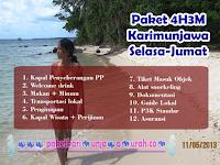 Harga Paket Wisata Karimunjawa 4H3M Selasa-Jumat