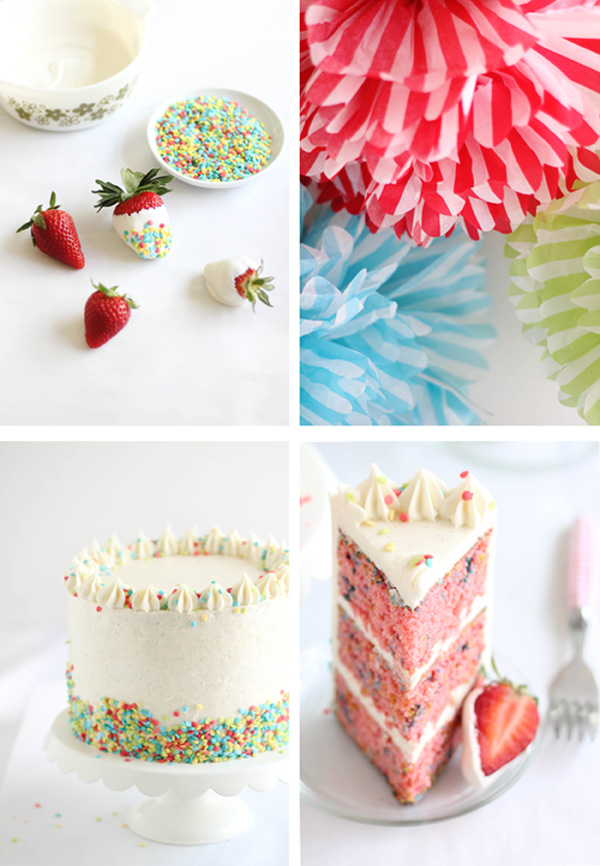 Miraculous Strawberry Confetti Cake And Vanilla From Tahiti Giveaway Funny Birthday Cards Online Elaedamsfinfo