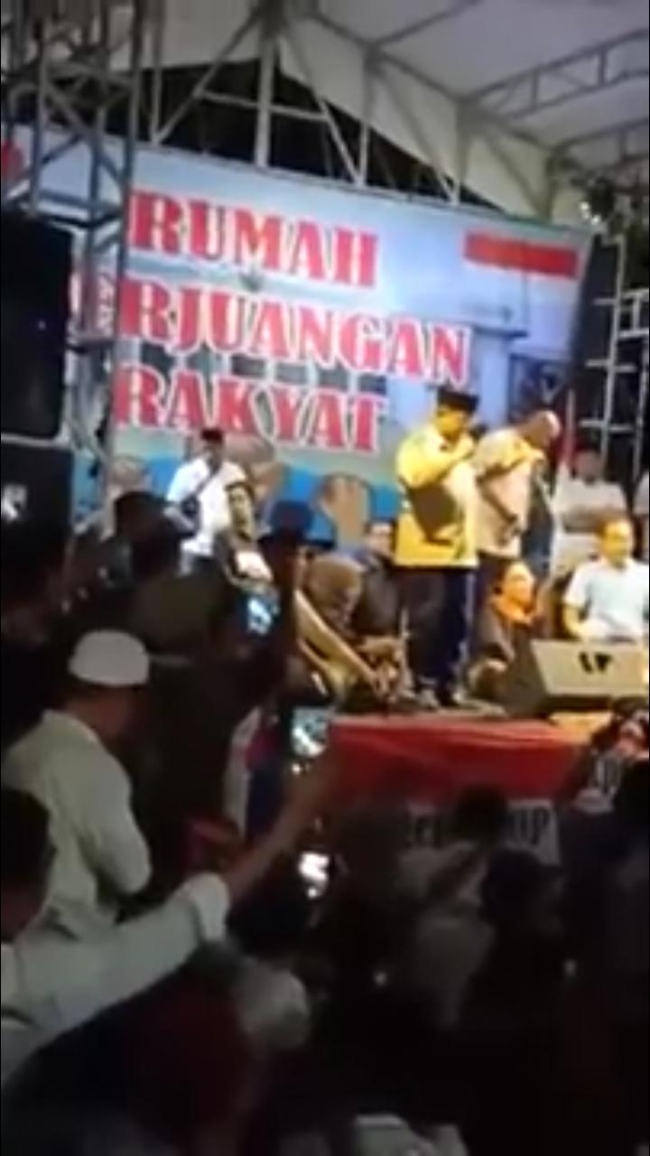 Sapa Korban Ricuh, Prabowo Sampaikan Pidato dengan Suara Bergetar