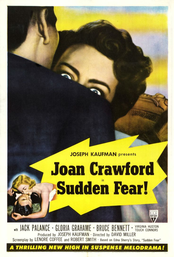 f95c9fa1f3fc Sudden Fear Is a 1952 American film noir thriller directed by David Miller,  and starring Joan Crawford and Jack Palance in a tale about a successful  woman ...