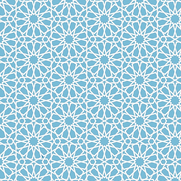 Vector abstract geometric islamic background. Based on ethnic muslim ornaments. Intertwined paper stripes. Elegant background for cards, invitations etc. Free Vector