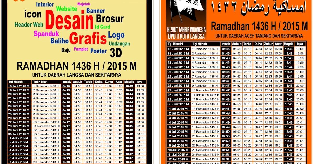 Imsakiyah jakarta pdf jadwal 2015