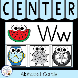 Alphabet Initial Sounds Matching Literacy Center