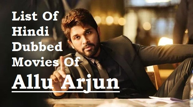 Allu Arjun Hindi Dubbed Movies Complete Collection  (2003-2018)