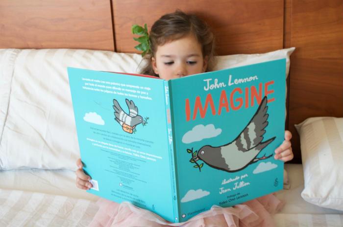 cuento infantil paz imagine de la canción de john lennon editorial flamboyant portada