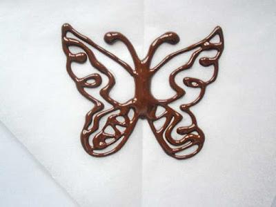 как сделать шоколадных бабочек для торта