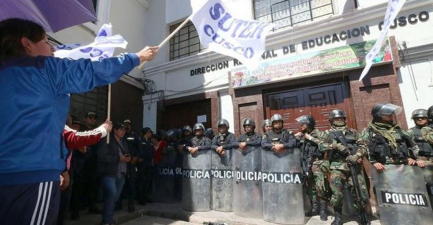 CUSCO: Huelga de maestros continúa en ciudad imperial y desconocen propuesta hecha por el Gobierno
