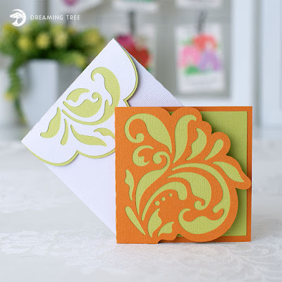 Dreaming Tree Floral Note card image
