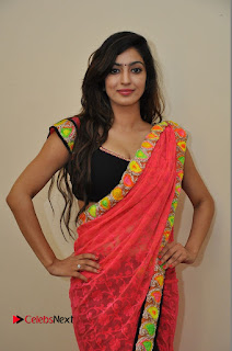 Actress Vaibhavi Joshi Pictures in Red Saree at Guntur Talkies 2 Movie Opening  0037.JPG