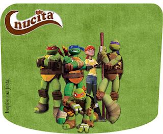 Etiqueta Nucita de Tortugas Ninja para imprimir gratis.