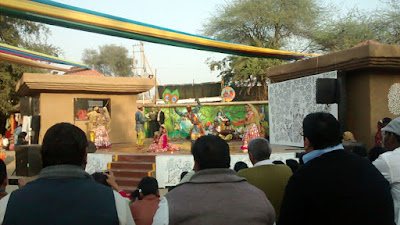 Holi with Radha and Krishna at Surajkund Crafts Fair