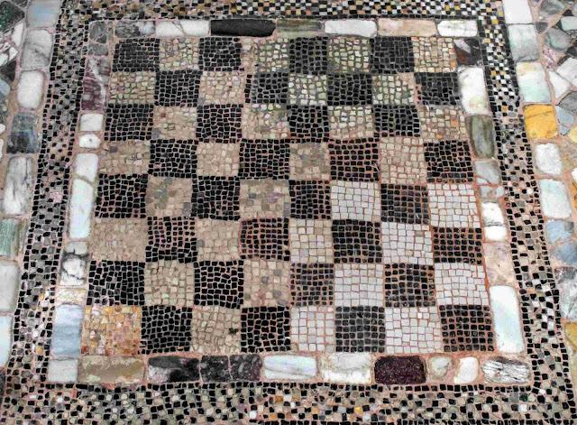 Mosaic of chess board, Santi Maria e Donato, Murano