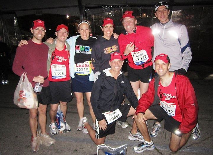 Team To End AIDS Marathon runners