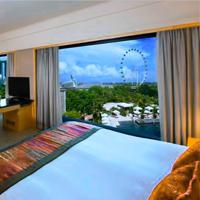 Malam Tahun Baru di Hotel Mandarin Oriental Singapore.