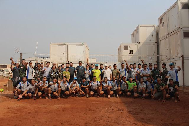 Kontingen Dari Negara-Negara Misi Perdamaian Olahraga Bersama di Afrika