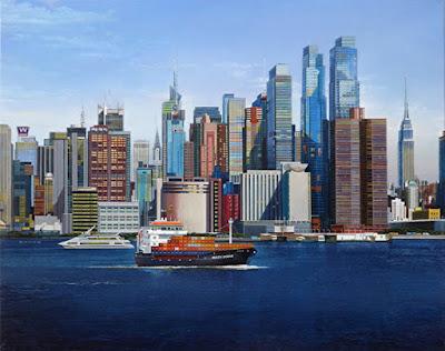 pintura-hiperrealista-arte-paisaje-de-nueva-york-al-oleo