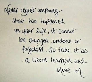inspirational quote about regreting yourself