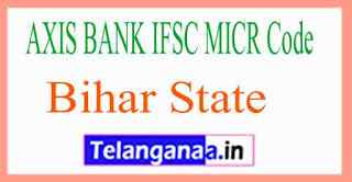 AXIS BANK IFSC MICR Code Bihar State