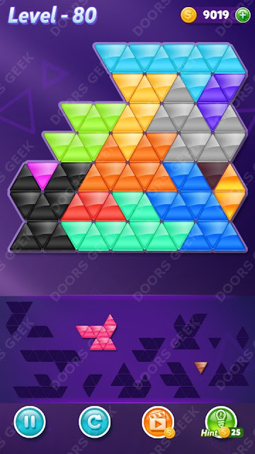 Block! Triangle Puzzle Champion Level 80 Solution, Cheats, Walkthrough for Android, iPhone, iPad and iPod