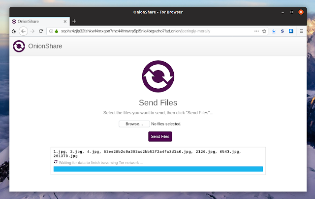 Tor browser send files OnionShare