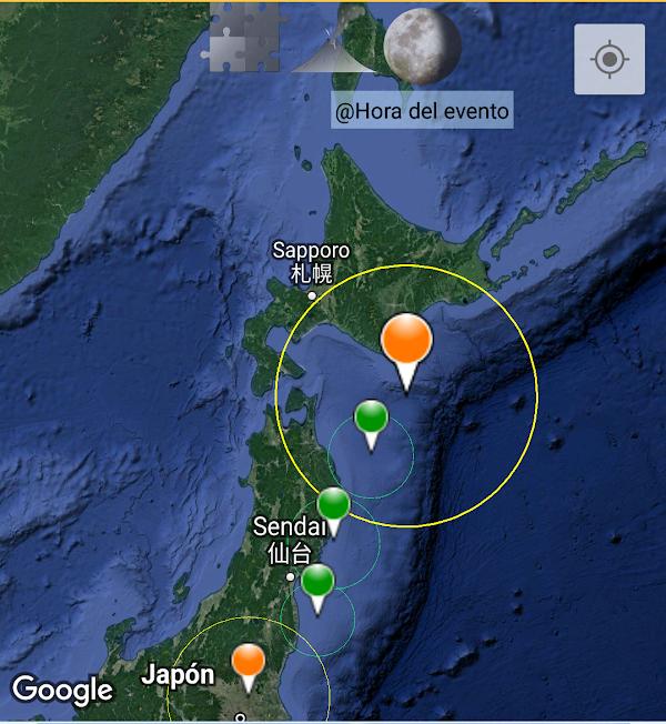 ULTIMA HORA: sismo moderado sacudio las costas de  japon hace unos minutos.