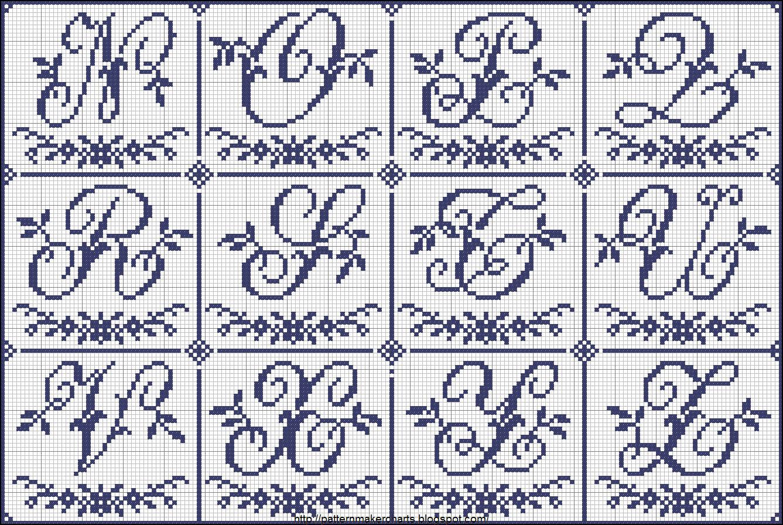 Grande raccolta di schemi e grafici per punto croce free for Punto croce schemi alfabeto
