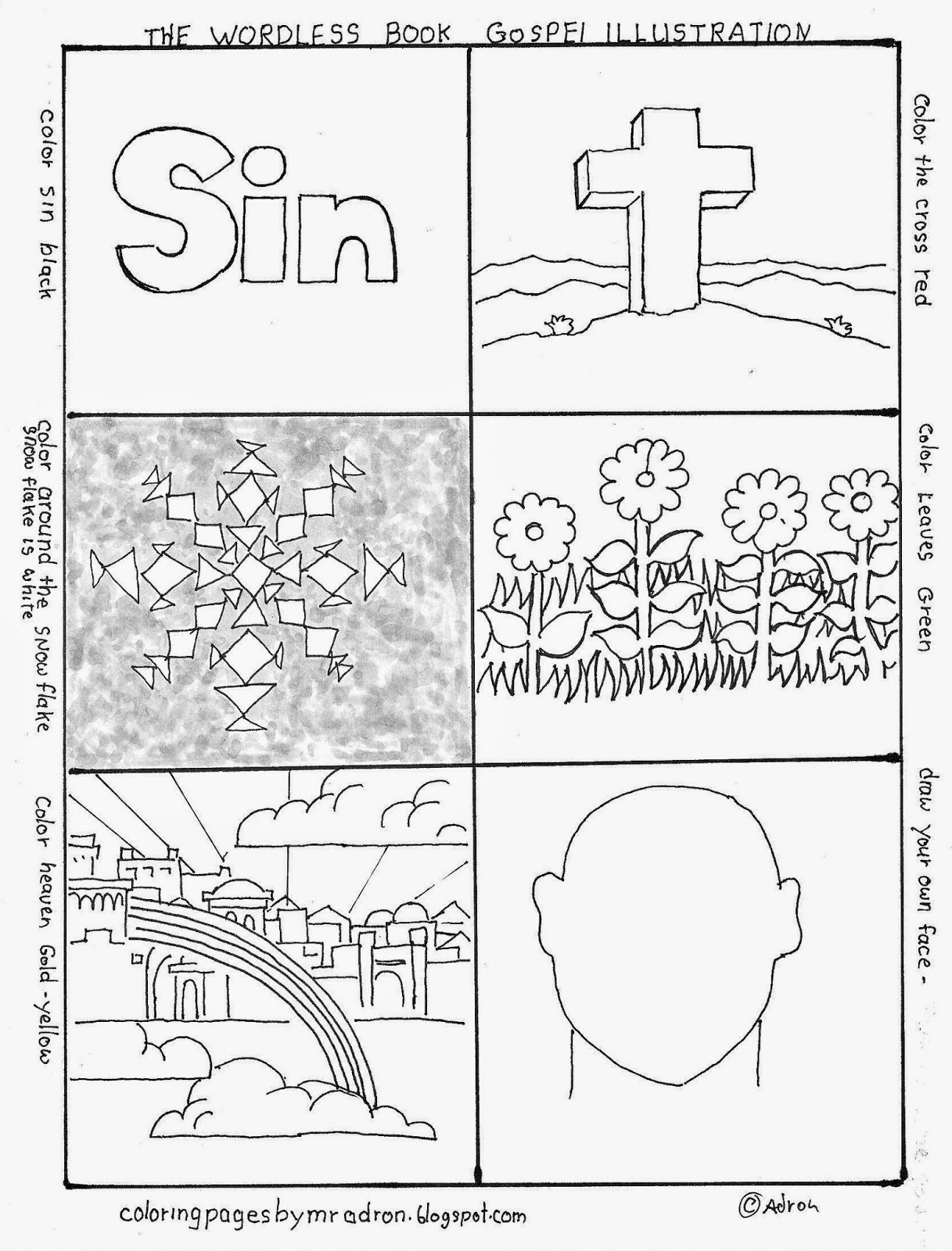 Coloring Pages For Kids By Mr Adron Wordless Book Gospel