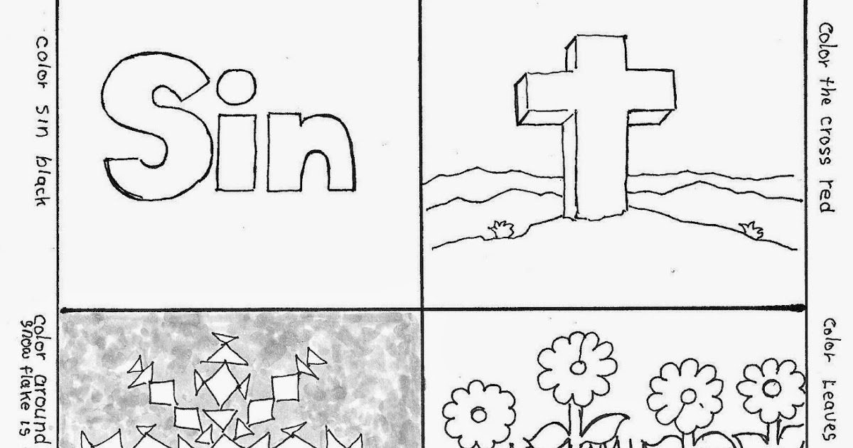Coloring Pages for Kids by Mr. Adron: Wordless Book Gospel ...