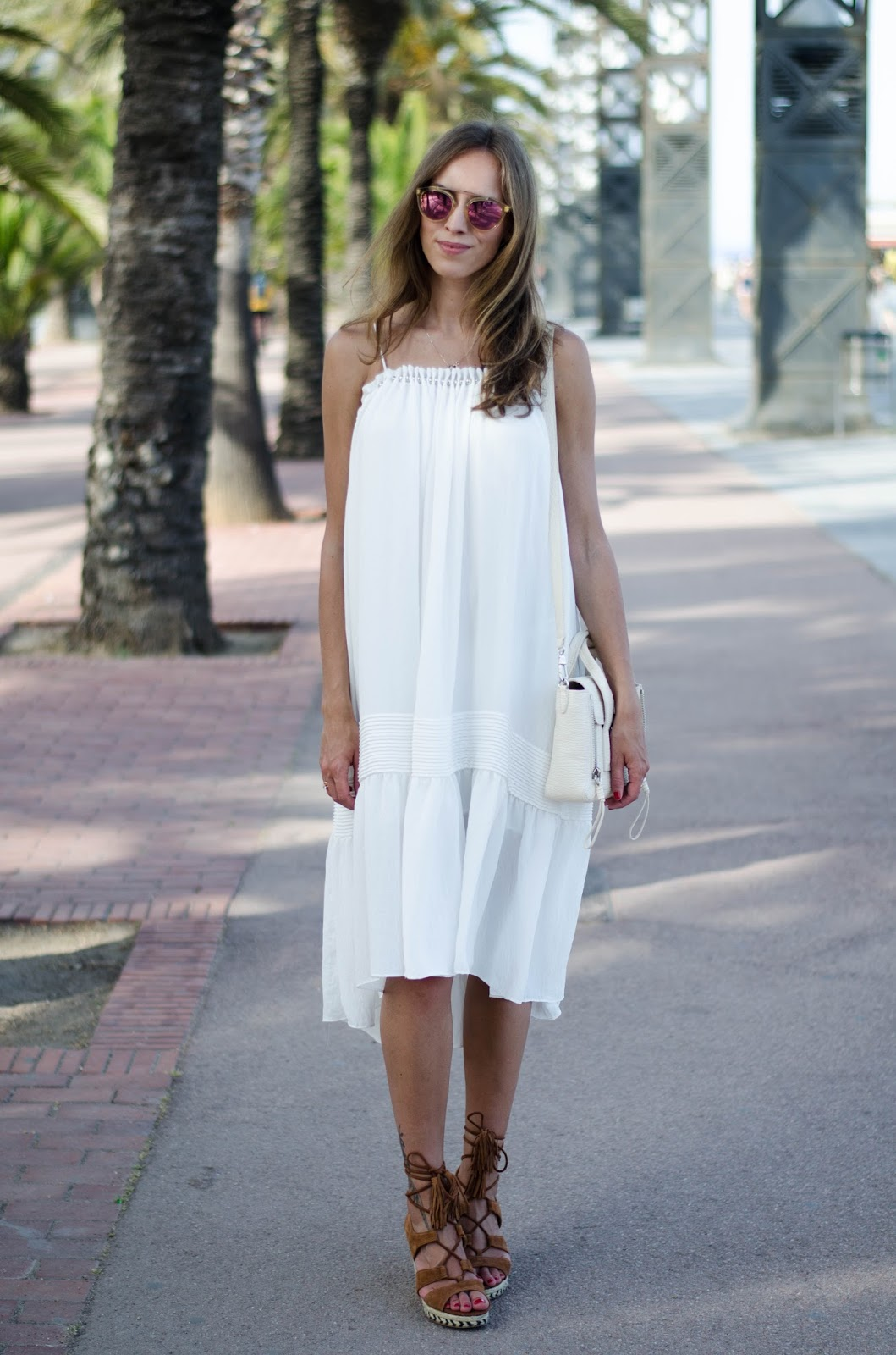 kristjaana mere white summer midi dress outfit