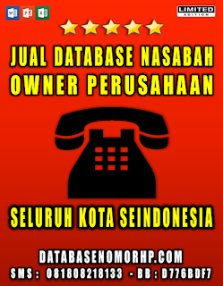 Jual Database Nasabah Telemarketing
