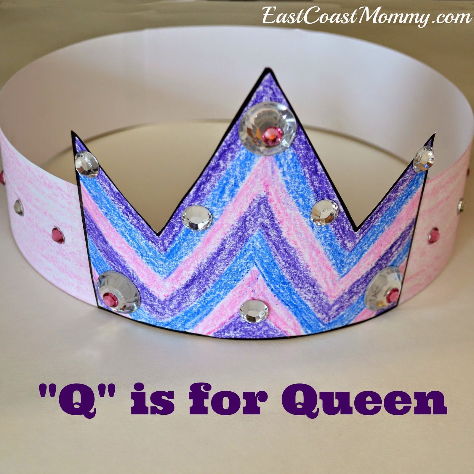 Letter%2BQ%2Bcraft Queen Letter Q Template on is for quail, lower case, queen craft, lower case alphabet, kindergarten crafts,