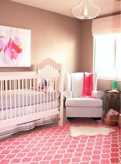 habitación de bebé coral