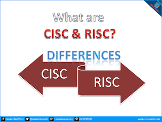 What are CISC & RISC? What are differences between CISC and RISC?